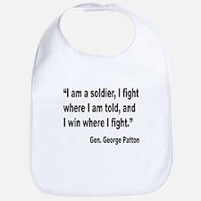 Patton Soldier Fight Quote Bib