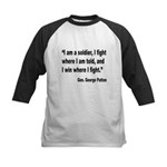 Patton Soldier Fight Quote Kids Baseball Jersey