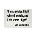 Patton Soldier Fight Quote Rectangle Magnet (10 pa