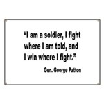 Patton Soldier Fight Quote Banner