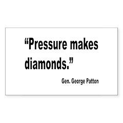 Patton Pressure Makes Diamonds Quote Decal