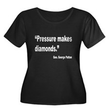 Patton Pressure Makes Diamonds Quote (Front) Women