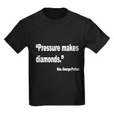 Patton Pressure Makes Diamonds Quote (Front) T