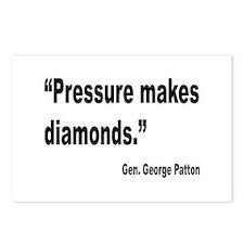Patton Pressure Makes Diamonds Quote Postcards (Pa