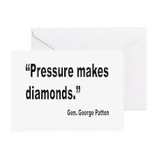 Patton Pressure Makes Diamonds Quote Greeting Card
