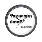 Patton Pressure Makes Diamonds Quote Wall Clock