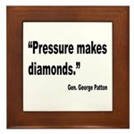 Patton Pressure Makes Diamonds Quote Framed Tile