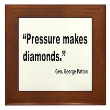 Patton Pressure Makes Diamonds Quote Framed Tile