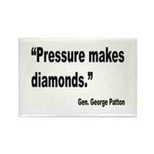 Patton Pressure Makes Diamonds Quote Rectangle Mag