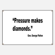Patton Pressure Makes Diamonds Quote Banner