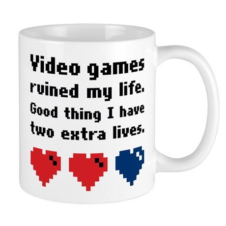 Video games ruined my life small mug by m322