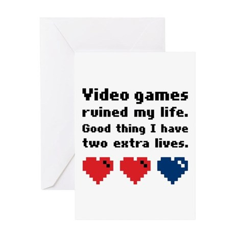 Video Games Ruined My Life. Greeting Card