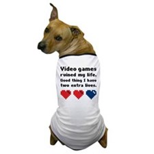 Video Games Ruined My Life. Dog T-Shirt