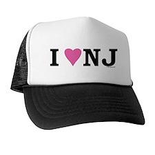 """I LOVE NJ"" Pink Hat"