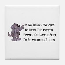 Child-Free Puppy Dog Tile Coaster