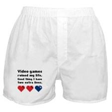 Video Games Ruined My Life. Boxer Shorts