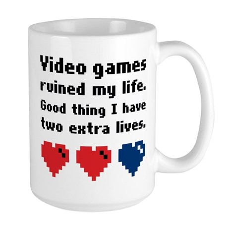 Video Games Ruined My Life. Large Mug