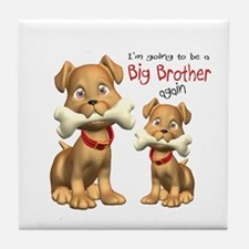 Dogs Big Brother Again Tile Coaster