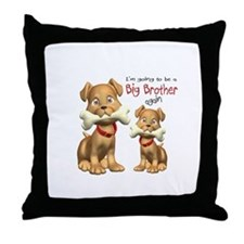 Dogs Big Brother Again Throw Pillow