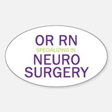 OR RN Neuro Oval Decal