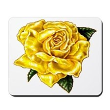 Painted Yellow Rose Mousepad