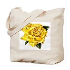 Painted Yellow Rose Tote Bag