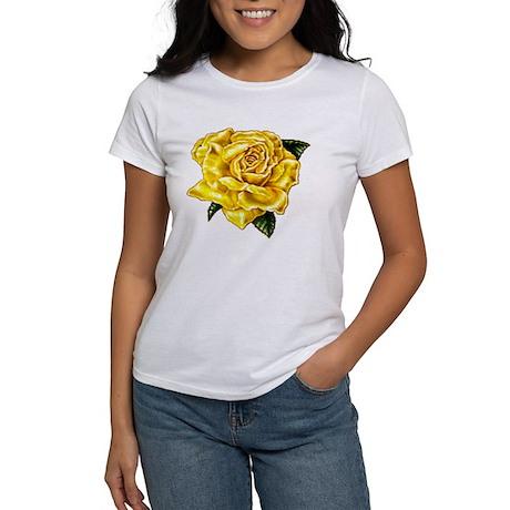 Painted Yellow Rose Women's T-Shirt