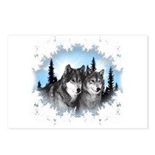 Cute Wolves Postcards (Package of 8)