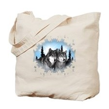 Funny Wolves Tote Bag