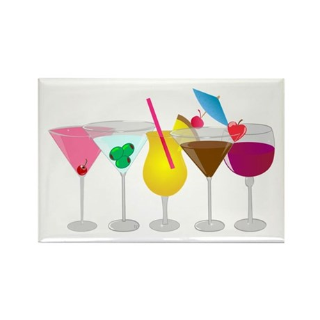 Mixed Drinks Rectangle Magnet