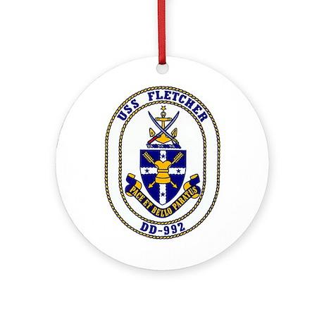 USS Fletcher DD-992 Ornament (Round)