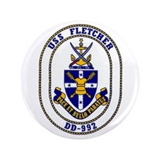 "USS Fletcher DD-992 3.5"" Button"