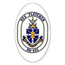 USS Fletcher DD-992 Oval Decal