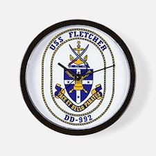 USS Fletcher DD-992 Wall Clock