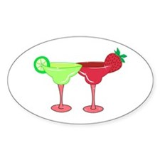 Margaritas Oval Decal