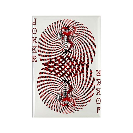 Harlequin Dizzy Rectangle Magnet