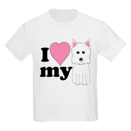 I love my Westie Kids Light T-Shirt