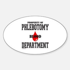 PHLEBOTOMY Oval Decal