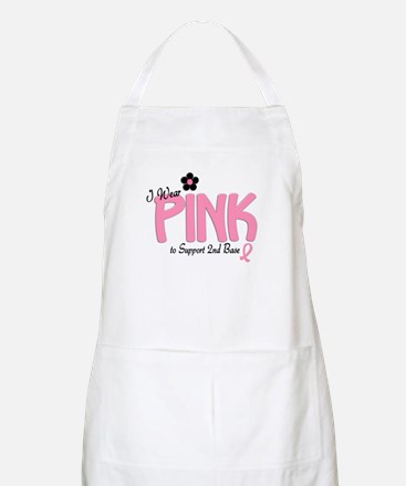I Wear Pink To Support 2nd Base 14 BBQ Apron