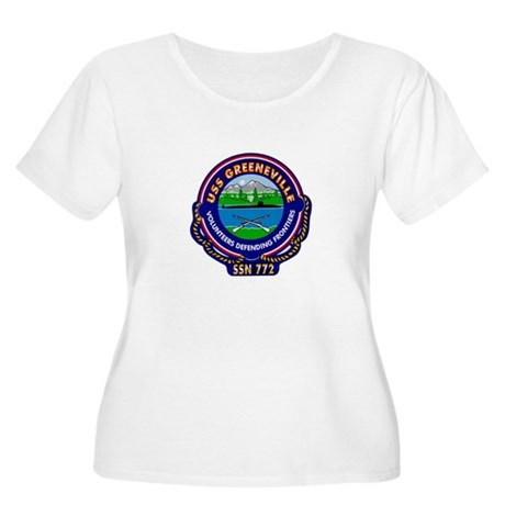 USS Greeneville SSN-772 Women's Plus Size Scoop Ne