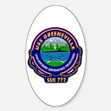 USS Greeneville SSN-772 Oval Decal