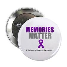 """Alzheimers Memories Matter 2.25"""" Button"""
