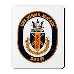 USS John S. McCain DDG-56 Mousepad