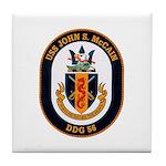 USS John S. McCain DDG-56 Tile Coaster