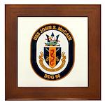 USS John S. McCain DDG-56 Framed Tile