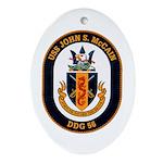 USS John S. McCain DDG-56 Oval Ornament