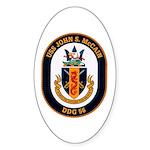 USS John S. McCain DDG-56 Oval Sticker (10 pk)