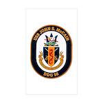 USS John S. McCain DDG-56 Rectangle Sticker 10 pk