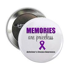"""Alzheimer's Memories Priceless 2.25"""" Button"""