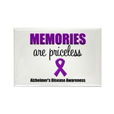 Alzheimer's Memories Priceless Rectangle Magnet